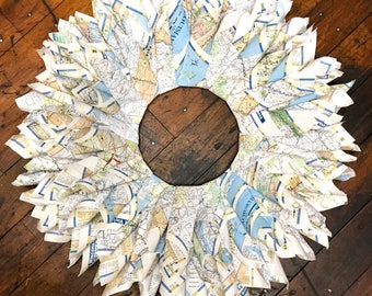 Atlas/Map Wreath
