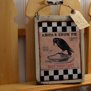 Primitive Crow   Wooden Signs With Saying   Handmade Wooden Signs    Primitive Country Décor