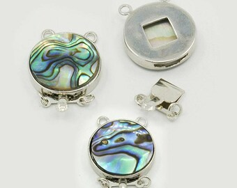 Shelley - Platinum Metal Color, Abalone/Paua Shell Box Clasp