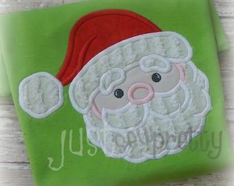 Cute Santa Embroidery Applique Design