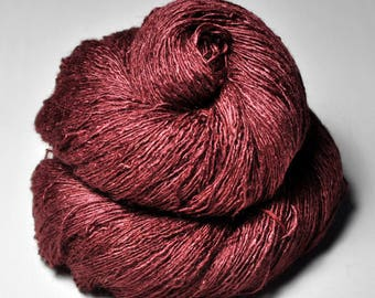 Broken terracotta tile - Tussah Silk Lace Yarn - Hand Dyed Yarn - handgefärbte Wolle - DyeForYarn