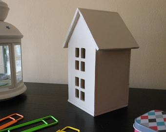Decorative Wooden Casita | White Wooden House | White Decorative House | Handmade | White