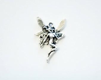 5 Beautiful Fairy Charms. Tibetan Silver. Pendant.