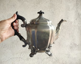 Antique Teapot James Dixon & Sons Pewter Teapot 1503 Coffee Pot English Victorian Decor