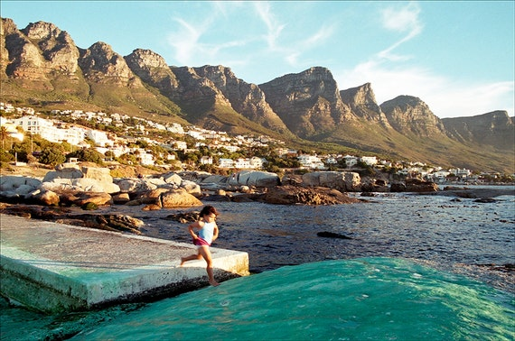 Camps bay Jump, Cape Town prints, South Africa pictures, landscape, limited edition print, photographic print