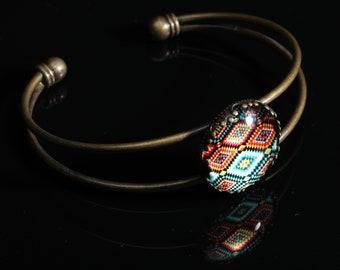 Cabochon Cuff Bracelet