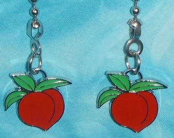 Set of Two ~ Red Plum Fruit Summer Delicious Metal ~ Ceiling Fan Pulls