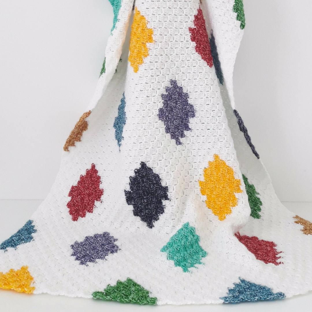Gehäkelte Decke Häkeln afghanischen C2C Harlekin Decke Decke