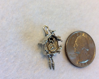 Sterling Silver Cukoo Clock Charm