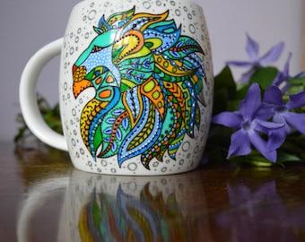 Coffee mug Leo zodiac mug Lion mug Leo birthday gift Colorful mug Leo gifts Zodiac mug Gift for men Leo mug Ceramic mug Personalized mug