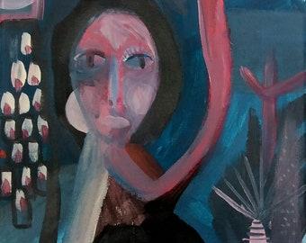 Original weird art, Taly Levi israeli artist, Fine art, young, Original Painting, original art, collectibles, expressionism, Canvas Painting