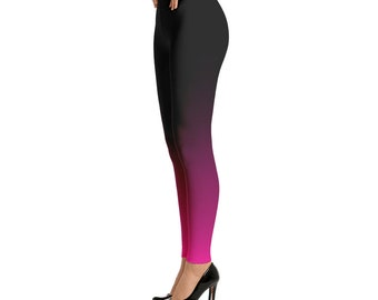 Ombre Black to Pink Leggings