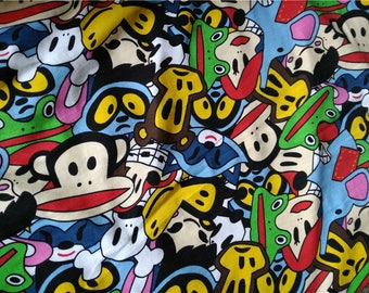 50*160cm paul frank fabric cotton lycra fabric for kids t-shirts sleeves pants