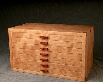 Large Jewelry Box, Curly Cherry & Rosewood