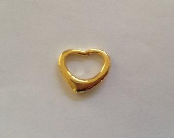 Gold heart charm, heart, charm, gold