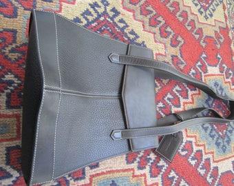Guy Laroche Paris Black Leather