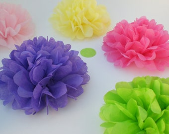 40 Tissue Paper Flowers (ANY COLORS) Wedding Decor, baby shower Decoration, Birthday Party Decorations, Flower Party, Tea Party
