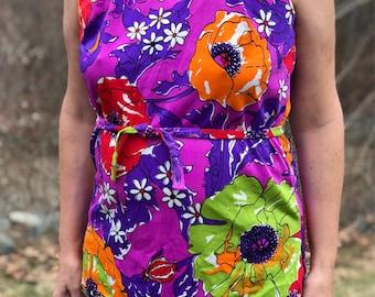 Beautiful Vintage 1960s Rose Marie Reid Floral Two Piece Bathing Suit