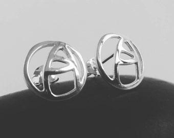 MacIntosh Rose, silver stud earrings, handmade jewelry, stud earrings