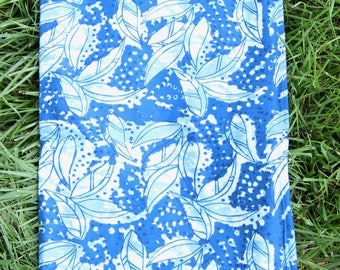 "Lush In Blue : Hand Block Print 100% Cotton Fabric, 1 yard x 45"", Traditional Border Printed, Fashion Supply, Sewing, Craft Supplies"