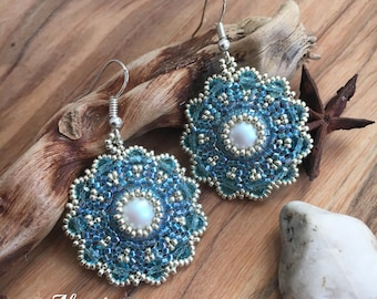 Peyote earrings Eros with SWAROVSKI ELEMENTS