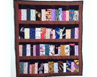 Made to order, Book case quilt, 4 shelf book case, library quilt, machine quilted