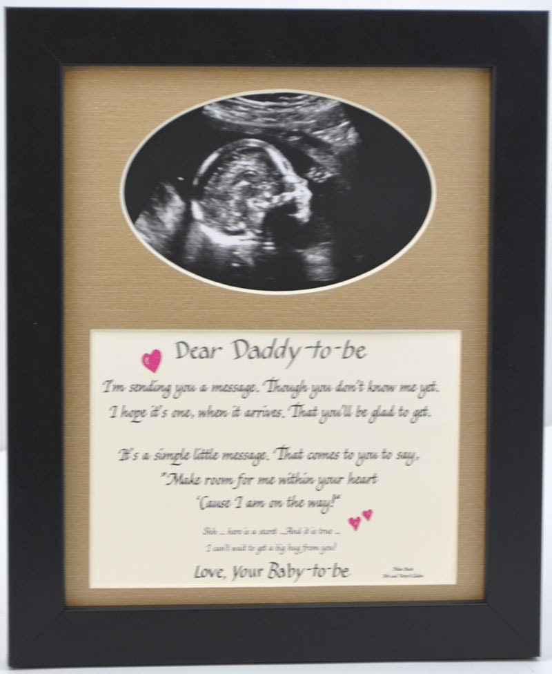8x10 Daddy to Be Ultrasound Photo Desktop Frame - Dad Gift Father ...