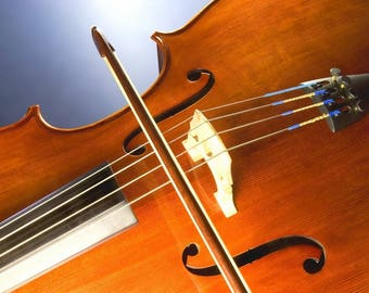 Laminated placemat violin and bow
