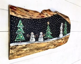 SNOWMAN - Wooden Snowman - Snowman Decor- Snowman Wall Art- Holiday Decor - Primitive Snowman - Snowman Wall Decor - Primitive Christmas