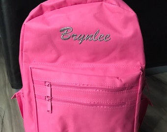 Personalized Embroidered Backpack Youth Kids Overnight Bag