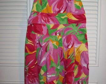 Vintage Pink and Lime Sundress, Cotton Sweet Spring/Summer Find Size 6