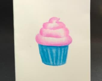 Petite Folded Notecards - Cupcake