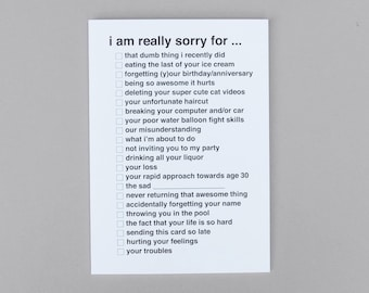 Check It Card - I Am Really Sorry For ...