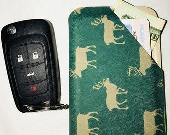 Kydex Wallet ~ Deer Wallet ~ Hunting Permit Case ~ Deer Printed Case ~ Antlers Card Wallet ~ Camo Wallet ~ Mens Wallet ~ Deer Antler Case