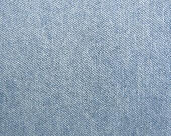 12 oz Stonewash Light Blue Denim Fabric Slipcovers Apparel Upholstery