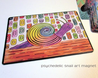 """Art Magnet Psychedelic Snail 3.5"""" x 5"""""""