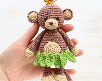 Crochet Stuffed Monkey Toy