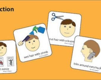 Hair Cut Picture Cards