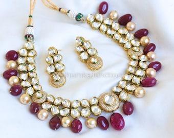 Kundan necklace, Indian wedding, Bollywood Necklace, Kundan Necklace, Indian Bridal Jewelry