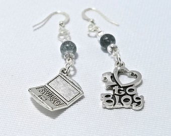 Personalized Blogging Themed Earrings