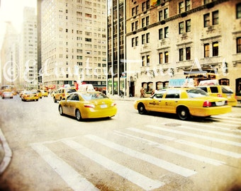 Car photo Taxi Photo New York City Photography Cabs NYC Taxi Cab Print New York Cabs Yellow Taxi Cabs Yellow Cars NYC Photo Car Photography