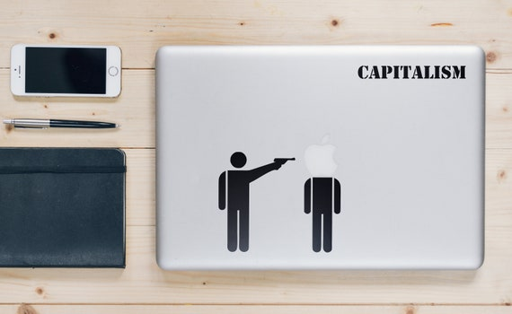 CapitalismDecal Sticker for Apple Macbook | Funny Sticker for Mabooks | Call to action | Change the world | Lenin | Imperislism