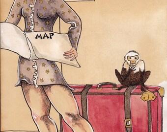 Poste Restante (with monkey)  - ORIGINAL ART