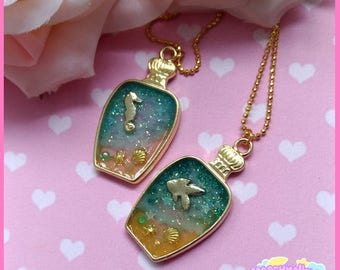 Sea in bottle necklace cute and kawaii lolita style