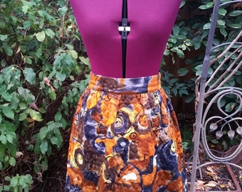 Quilted Maxi Skirt Quilted Skirt Psychedelic Maxi Skirt Hippie Maxi Skirt Bohemian Maxi Skirt Boho Maxi Skirt 1970s 70s Abstract High Waist