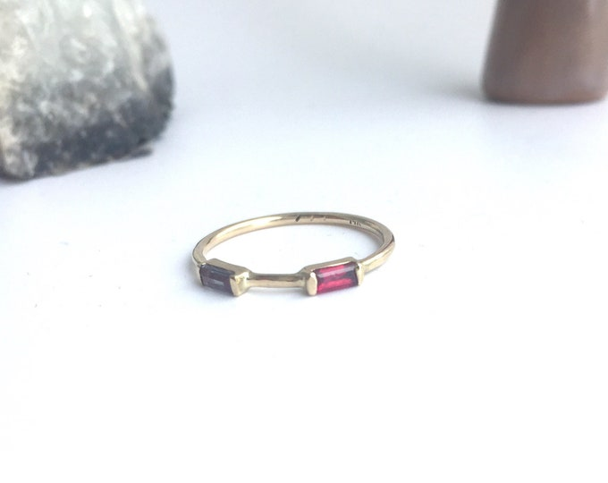 Double baguette ring