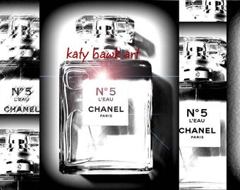 Chanel Bottle Collage Fashion Photography
