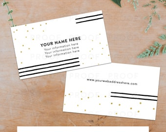 Black and Gold Business Card Template - Front and Back