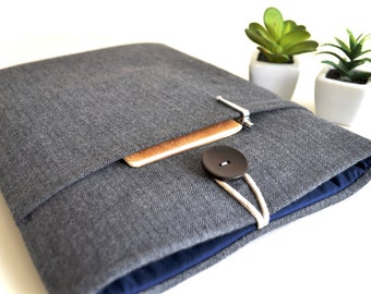 MacBook Sleeve, MacBook Air Case, MacBook Air Sleeve, 2017 New MacBook Pro MacBook Air 13 inch Laptop Case Covers - Flannel Gray Herringbone