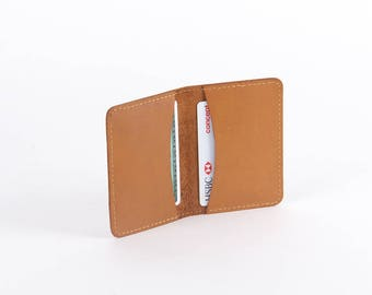Leather Card Case, Leather Business Card Case, Custom Gift for her, Gift for Him, Mother's Day Gift, Leather Card Holder, Small Card Wallet